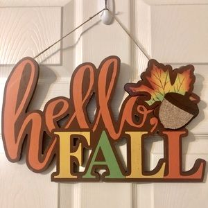 🍁Hello Fall🍁 Home Decor / Hanging Sign